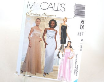 UNCUT Vintage Sewing Pattern for Dress and Scarf, McCalls 9225 Sizes 12, 14, 16