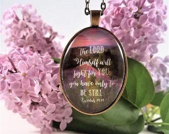 Be Still Exodus 14 Necklace