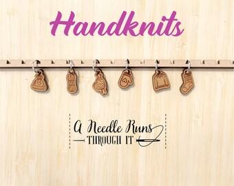 Handknits stitch marker set, snag free stitch markers. Knitted clothes stitch markers for knitting. gift for knitter, knitting
