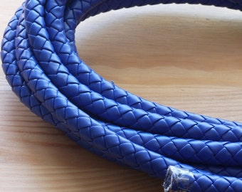 Blue Faux Braided Leather Cord 10mm- 0,50cm /20 inches