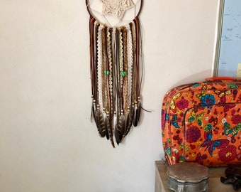 "Boho dreamcatcher ""Green Josephine"""