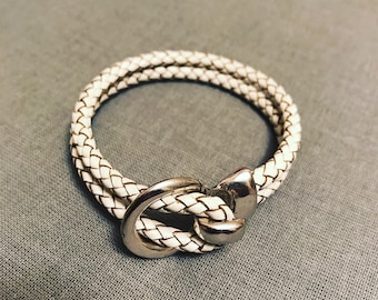 Roped in Leather Bracelet