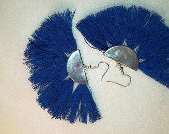 Andalusian blue/Silver earrings