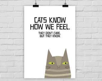 print poster CATS KNOW