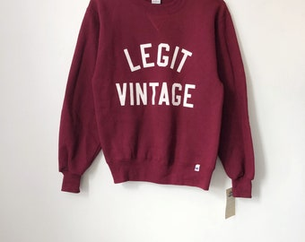 legit vintage X russell athletic crewneck sweatshirt mens size small deadstock NWT 90s made in USA