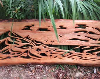 Sand Dunes and Desert Waves, Wood Sculpture, Handmade Carving, Bespoke Designs
