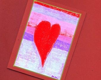 Heart Art Note Card