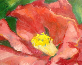 Camellia Floral Still Life Oil Painting//20 x 20 x 1.5 inch Gallery Wrap Canvas//Signed Original