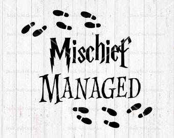 Mischief Managed SVG, Harry Potter Inspired Svg, SVG, svg files, cricut, silhouette