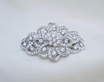 Rhinestone Barrette / Rhinestone Hair Clip / Bridal Hair Clip / Special Occasion Hair Clip/ Vintage Inspired  Hair Clip / Prom