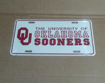 Oklahoma Sooners License Plate