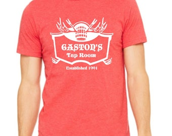 Disney Shirts Mens Unisex Gaston's Tap Room Shirt disney shirt disneyland Shirt Disney World Shirt Magic Kingdom shirt