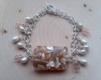 Double chain beachcomber bracelet