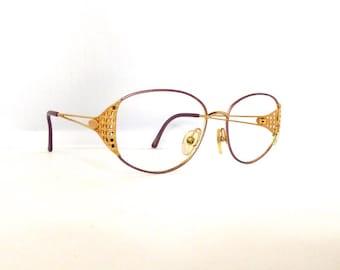 Christian Dior Eyeglasses Frames // Women's 1990's //Pink with Gold Detail Frames// 2881//#M105  DIVINE  (EB)