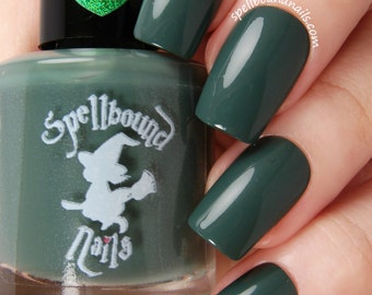 Salamander - Dark Green Creme Nail Polish