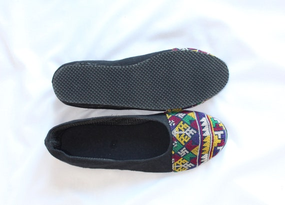 5 Hand Mary Traditional Shoes Hmong Janes 7 Uppers Fabric Cross US Cotton Stitched Summer FromThailand tzwRZ5Zq