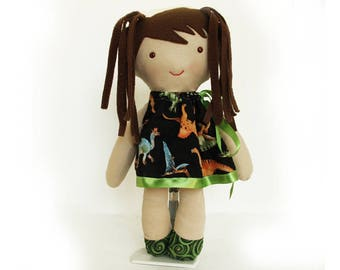 Rag doll baby-Zulma the Paleontologist-rag doll-dinosaurs