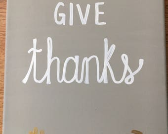 Give Thanks Canvas