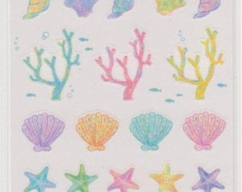 Coral Stickers - Masking Tape Stickers - Reference A4209