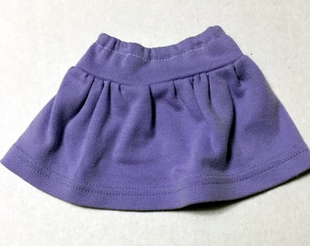 18 inch doll skirt fits American Girl dolls purple doll skirt 19 inch doll clothes