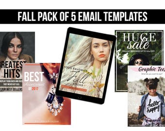 Fall Email Templates ( 5 Pack)
