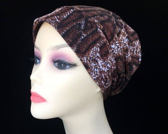 Chemo Alopecia Hair Loss Slouchy Animal Knit Cap-Hat-Sleep Cap #474