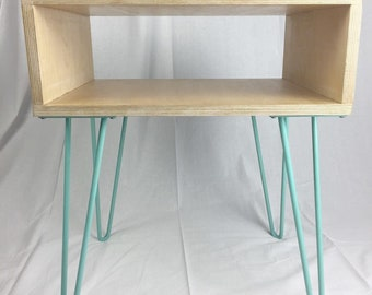 Modern Side Table/End Table With Hairpin Legs
