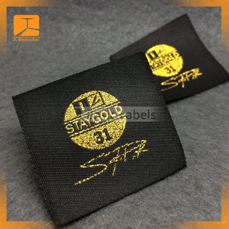 300 Gold Thread Woven Label Gold Metallic Gold Foil