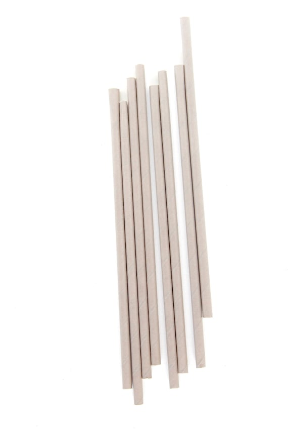 CLOSEOUT SALE Grey/Silver Solid Straws 15 Count