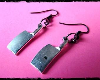 Butcher Knife Gothic Earrings