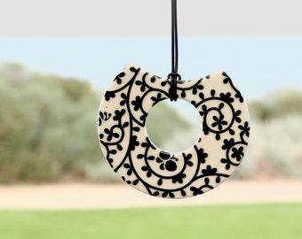 Statement necklace ceramic - ceramic jewelry, gift for her, ceramic pendant, statement jewelry