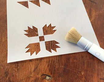 Stencil, Farm House Style, Mini Barn Quilt Patterns, Art and Collectable ,Craft Supplies