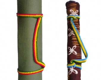 Adjustable yoga mat strap, hiking mat sling, cultural mat sling, yoga mat carrier