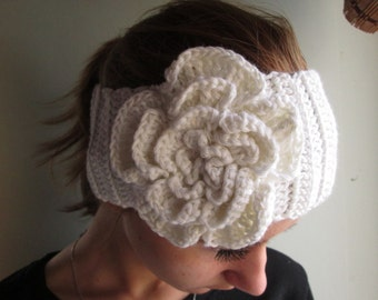 knit headband, women white headband knit ear warmer knit ear warmer winter headband, girly headband teen headband, earwarmer simple headband