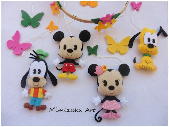 Mobile mickey mouse minnie mouse goofy and pluto mobile - Minnie mouse mobel ...