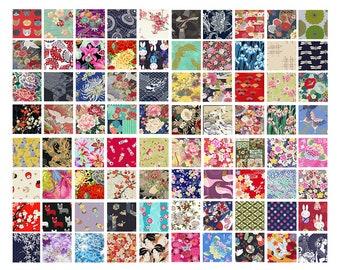 20 Fat Quarter Asian Japanese Quilt Fabric: 5 Yards