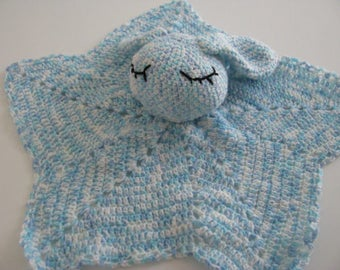 Blue crochet star Bunny