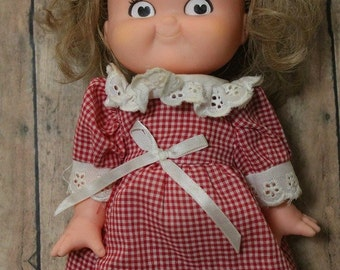 Vintage Campbell's Soup doll-Girl Campbell Kid-Retro decor-Kitchen decor-Campbells Soup 1988-Vintage doll