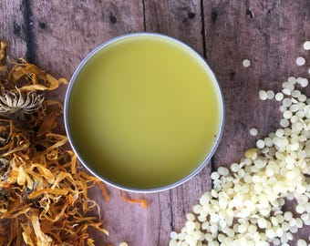 SKIN CARE Healing Calendula Salve - Natural Herbal Balm -  Self Care  -  Dry Skin Salve - Anti-Chafing Cream - Rash Ointment - First Aid