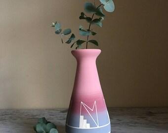 Vintage Native American Sioux Art Pottery Vase