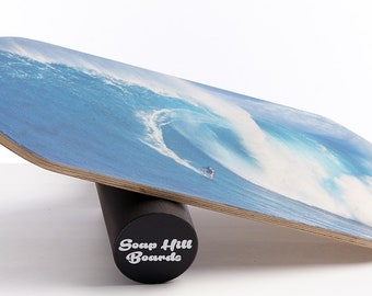 Handcrafted Balance Board With Natural Wooden Roller