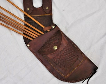 archery leather side/hip quiver