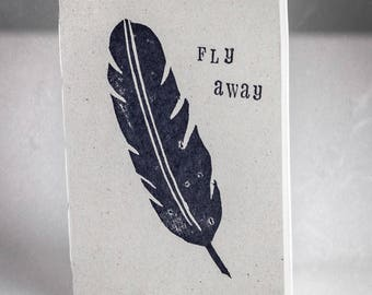 Small Field Notebook, Soft White Paper – Fly Away