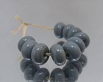 Grey, Lampwork Spacer Beads, SRA, UK