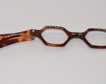 Faux  Tortoise Shell Folding Glasses Vintage