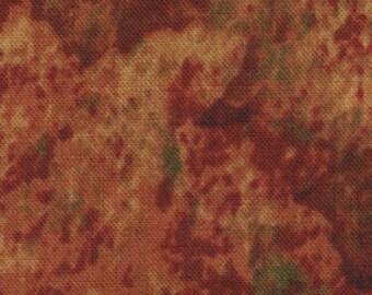 "Fallen Leaves Bitter Orange 45"" 100% cotton fabric"