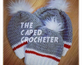 Mommy n Me Work Sock Slouch Hat Set