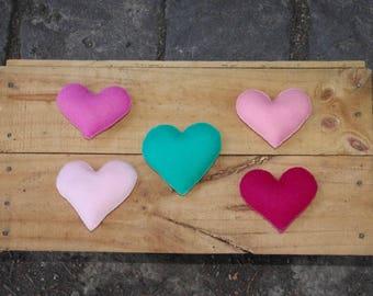 Soft Heart, Wool/Felt Heart, Party/Wedding Favors, Individual Hearts