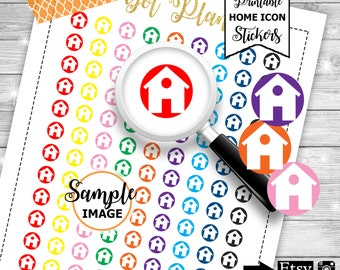 Home Icon Stickers, Printable Planner Stickers, Functional Icon Stickers, Home Stickers, House Planner Stickers, Stickers For Planners