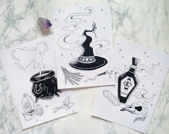Witchy Vibes - Ink Drawings